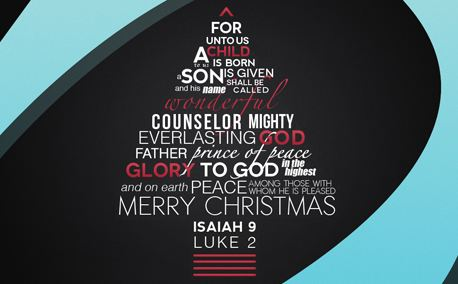 Bible Verse Xmas Tree by Roger Coles