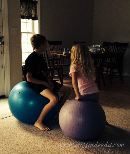 Dueling Yoga Balls